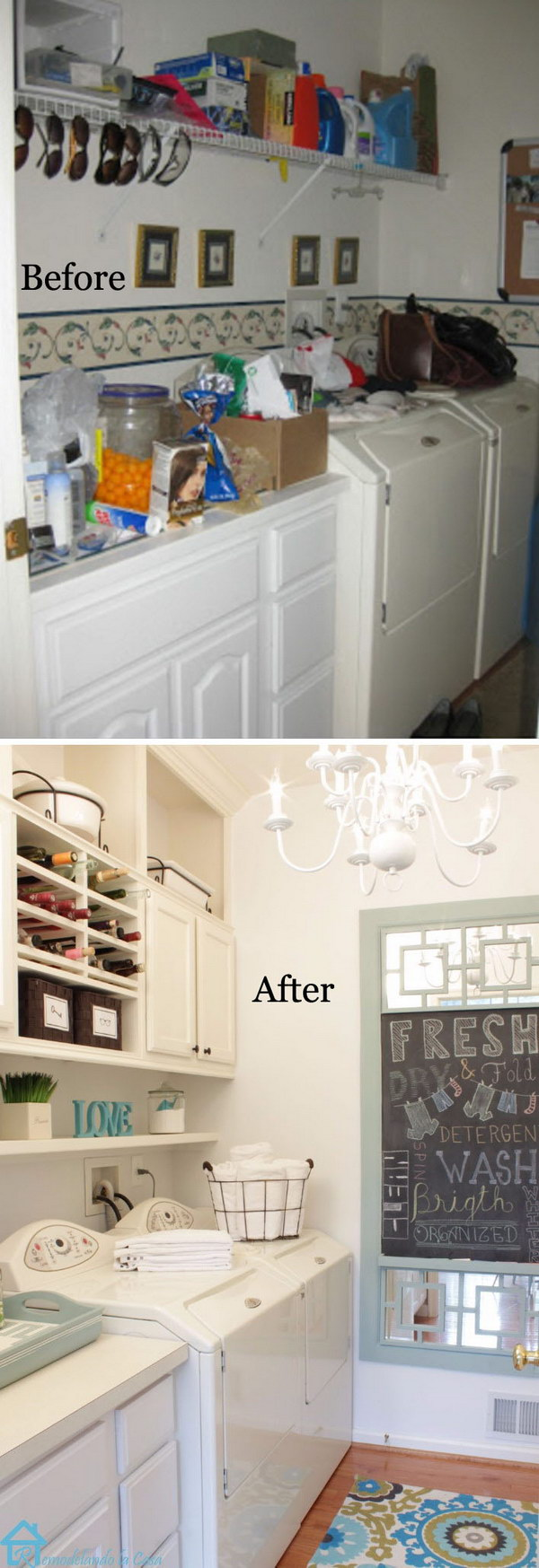 Pretty Well Organized Laundry Room with Lots Of Storage Space: DIY Makeover.