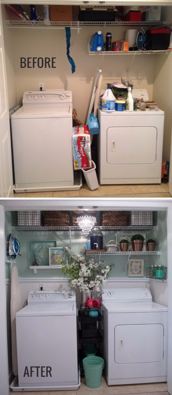Highly Functional Laundry Room Makeover.