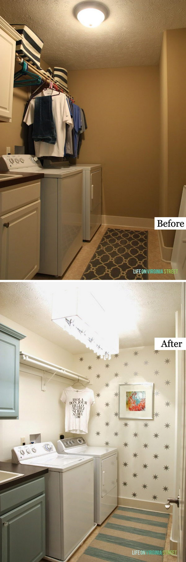 A Bright, Fresh DIY Laundry Room Makeover .