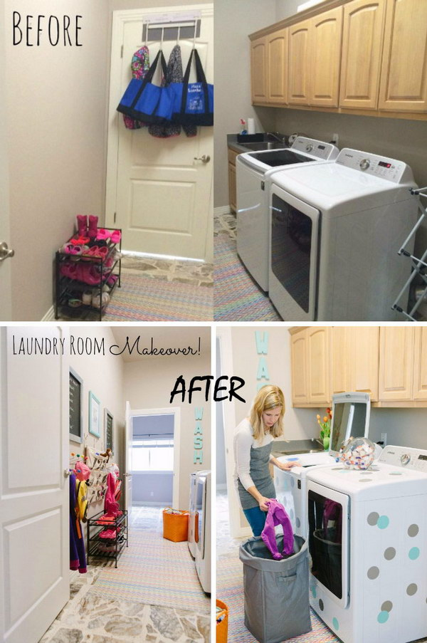 Laundry Room Makeover with The Land of Nod.