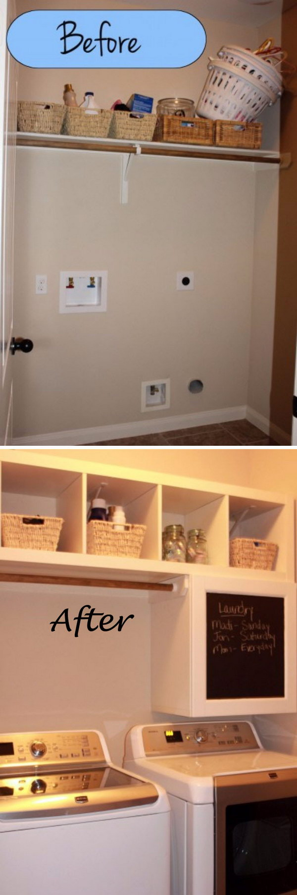 Mini Laundry Room Makeover.