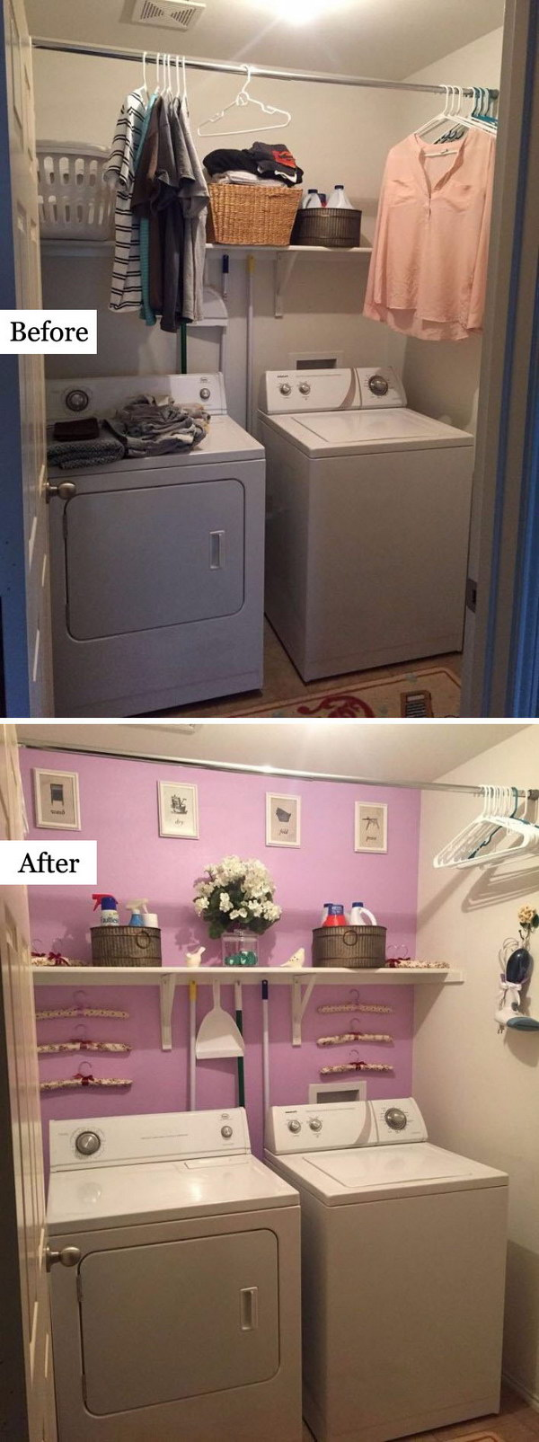 Laundry Room Makeover: The New Wall Color .