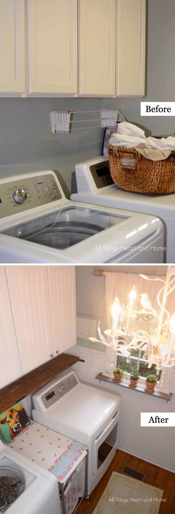 Beautiful and Functional Laundry Room Makeover.