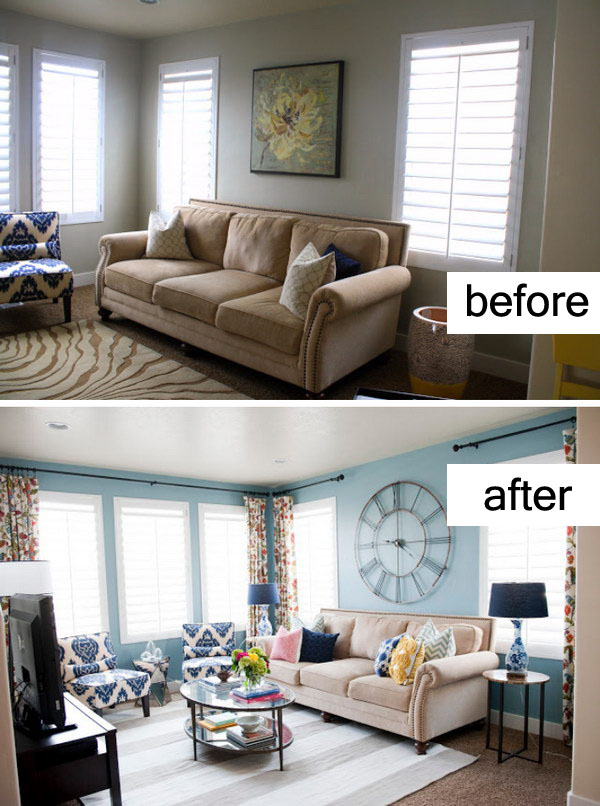 Fresh Up the Living Room with Paint.