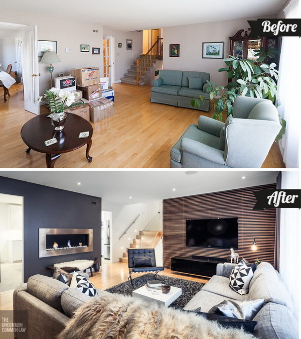 The Modern Living Room: Before & After.