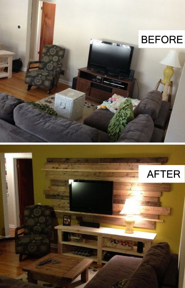 Rustic Living Room Remodel.