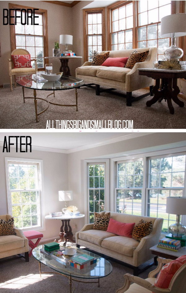 Living Room Makeover with Playful Colors.