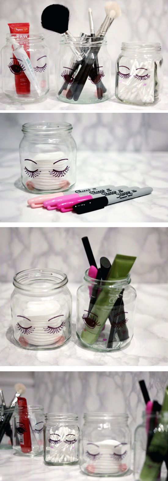 DIY Cute Sharpie Storage Jars