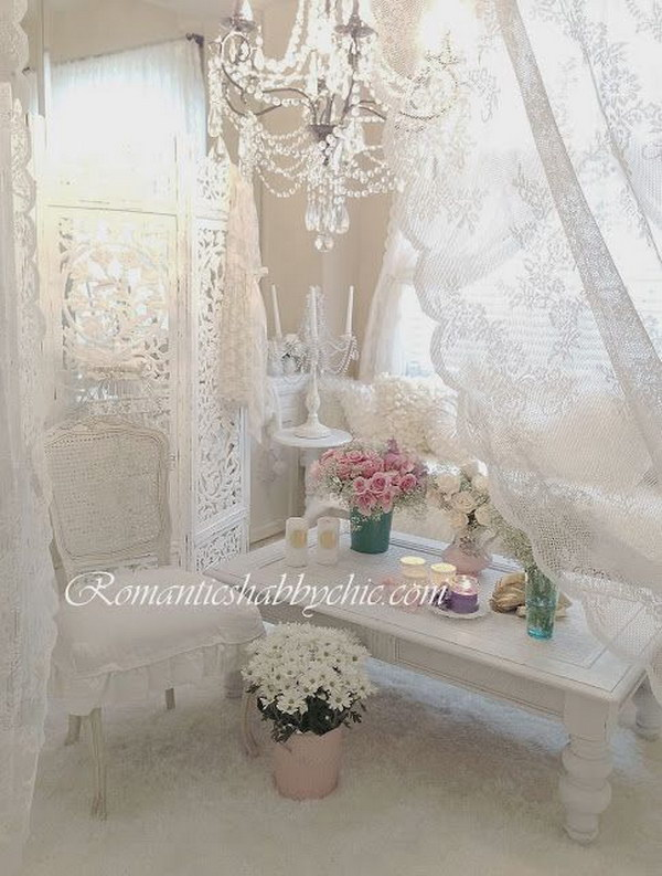 Romantic Feminine Living Room Decor.
