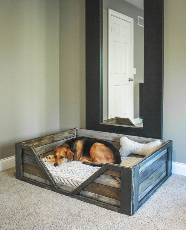 DIY Wooden Dog Bed.