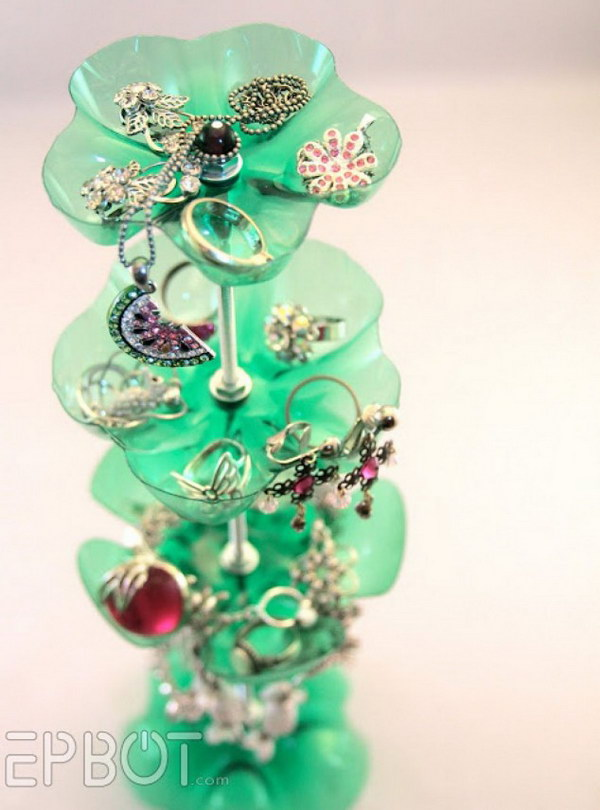 Platic Bottle Recycled Jewelry Stand