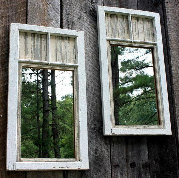 DIY Garden Mirror