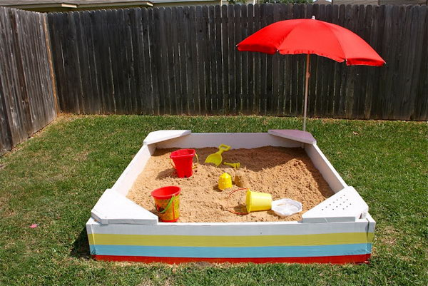 DIY Backyard Sandbox