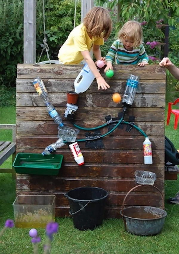 DIY Backyard Water Wall Game for Kids