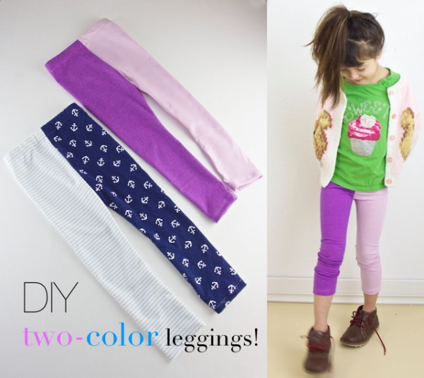 DIY Two Color Leggings Tutorial