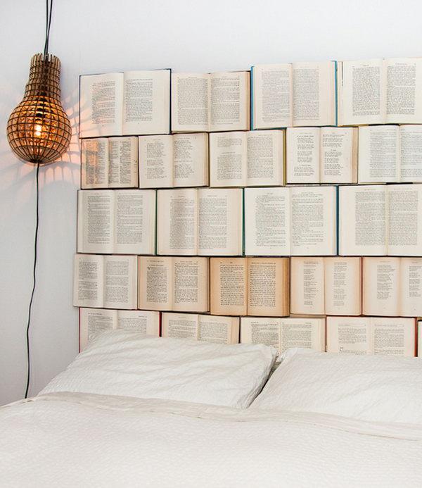 DIY Book Headboard Tutorial