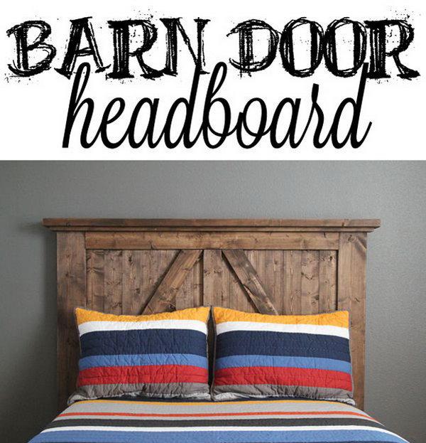 DIY Barn Door Headboard Instructions