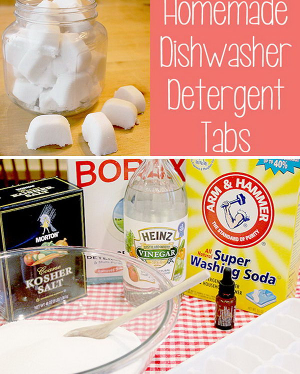 Homemade Dishwasher Detergent Tabs