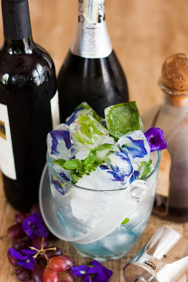 DIY Flower Ice Cubes