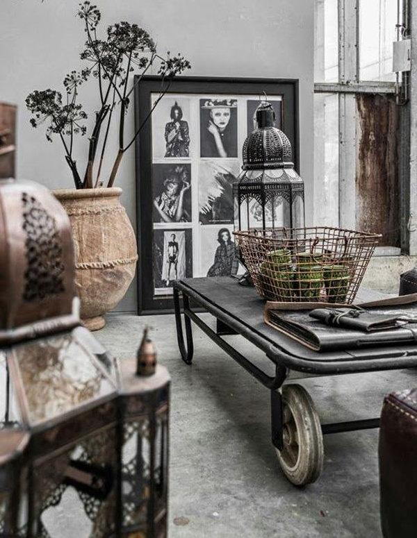 Vintage Industrial Living Room Design