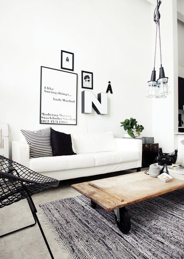 White Industrial Living Area