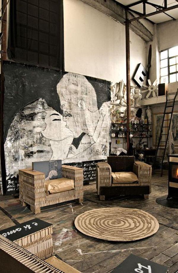Industrial Living Room Furniture