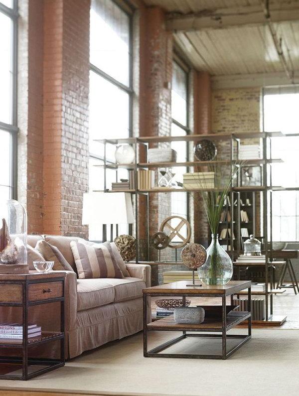 Bright Industrial Living Room