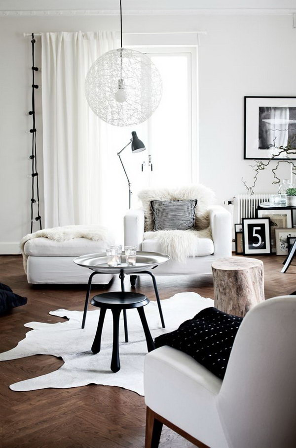 Cozy Living Room With Natural Details and Industrial Touch