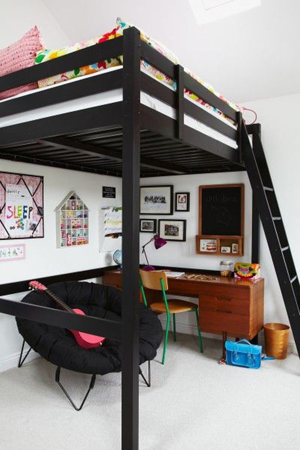 Black Loft Bed For Boys