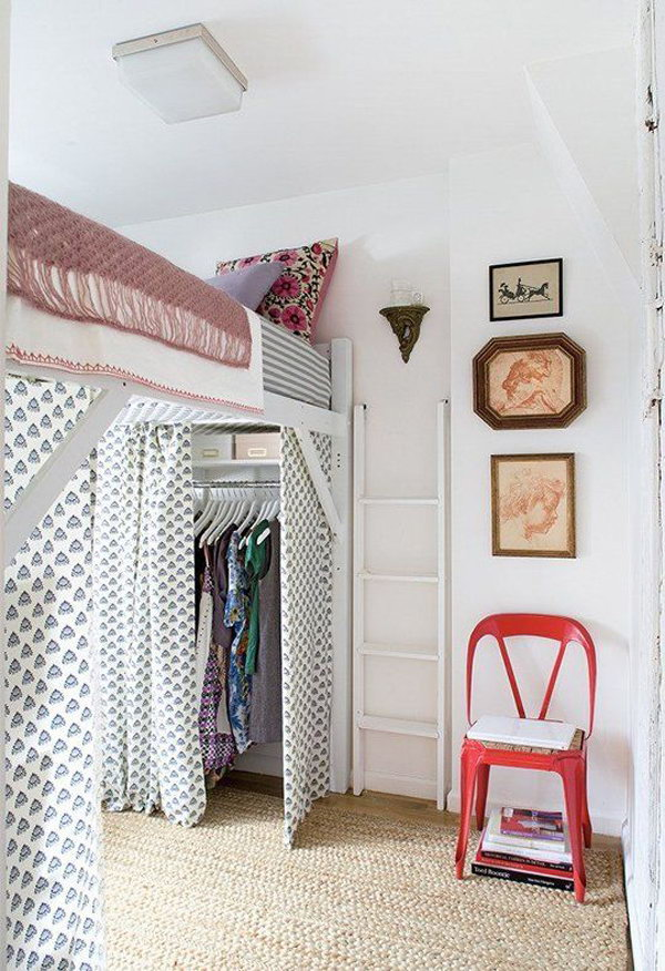 Loft Bed With Closet Design