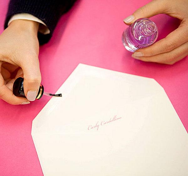 Use Nail Polish to Seal an Envelope