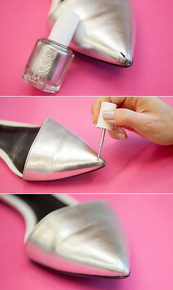 Cover Up Wear and Tear on Your Shoes with Nail Polish