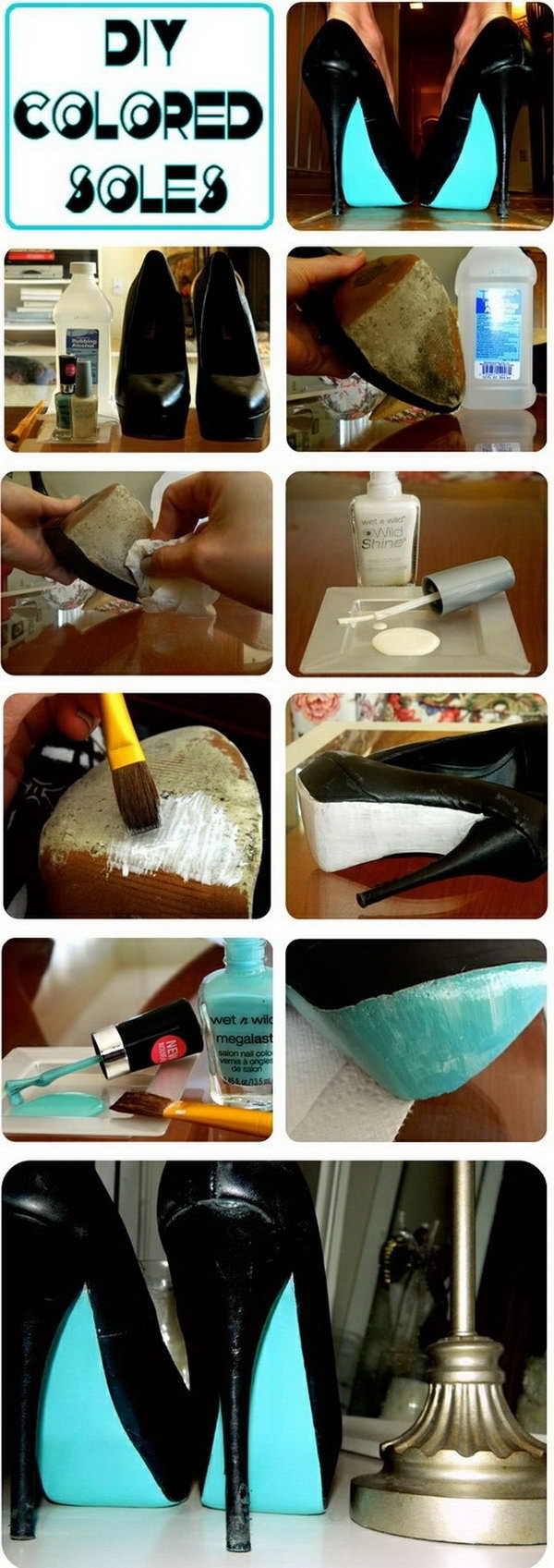 Makeover Your old Shoe Soles With Nail Polish