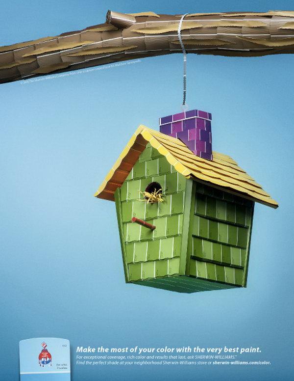Paint Chip Bird House