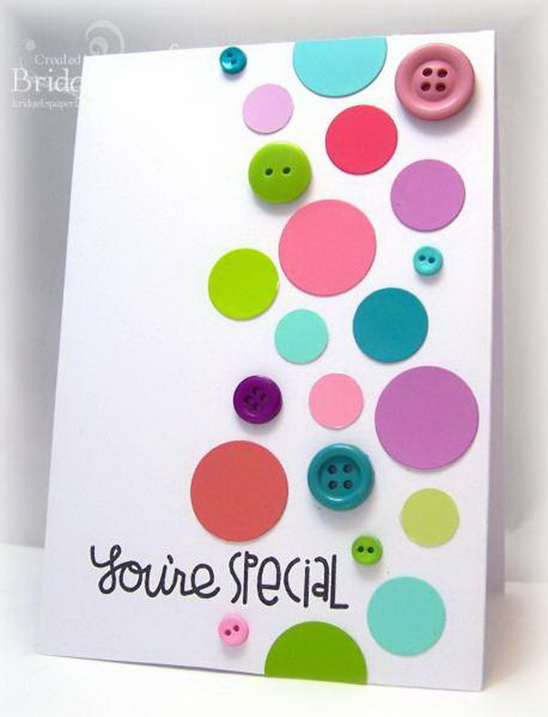 Paint Chip Polka Dot Card
