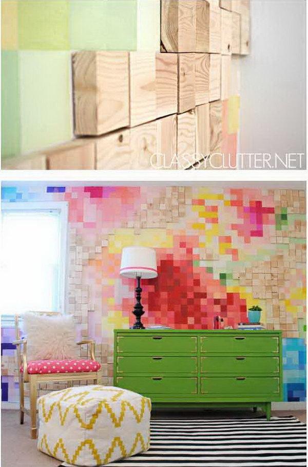 DIY Pixelated Art Wall