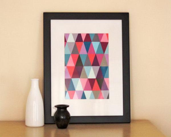 Paint Chip Geometric Wall Art