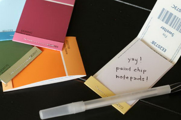 Paint Chip Matchbook Notepads