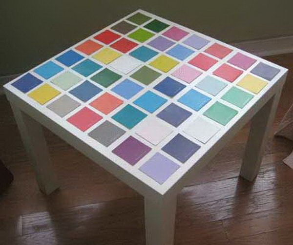 Paint Chip IKEA Lack Table