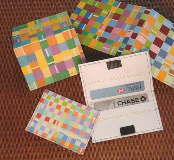 Woven Paint Chip Credit Card Holder