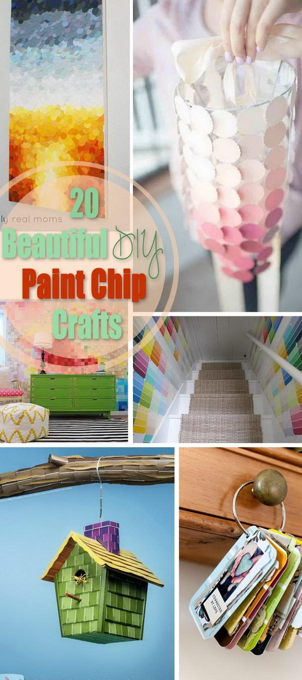Beautiful DIY Paint Chip Crafts!