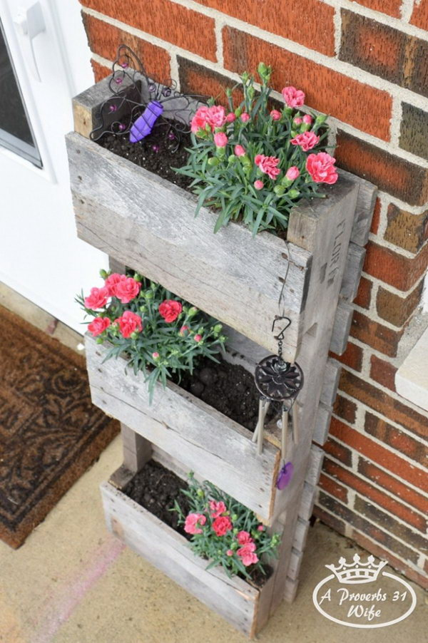 Create A Pallet Planter To Attract Butterflies