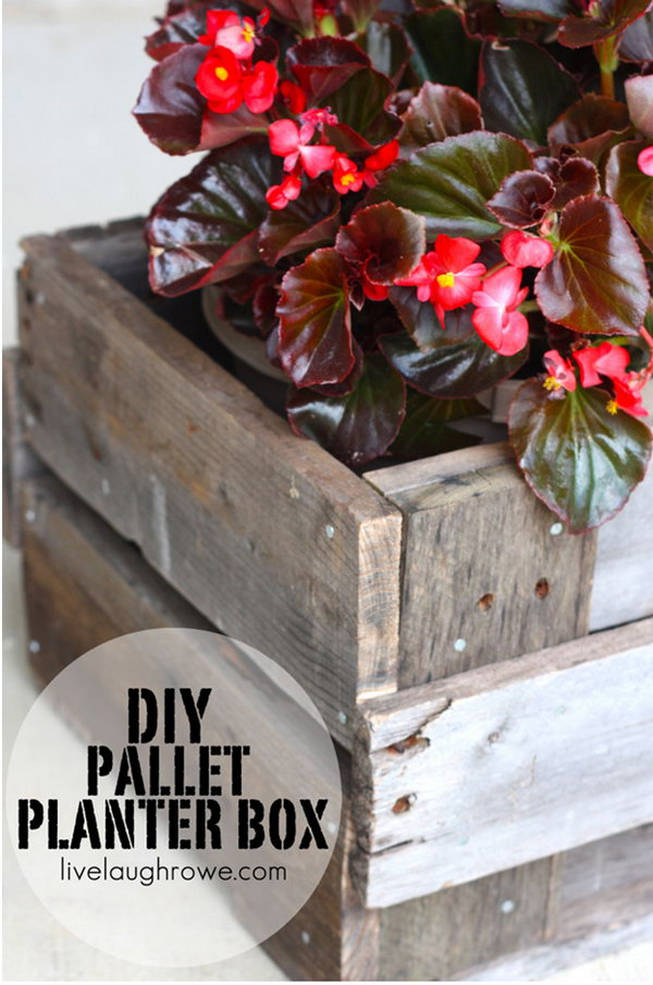 This DIY Pallet Planter Box Adds A Rustic Touch To Your Home