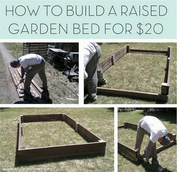 Budget Friendly Raised Garden Bed