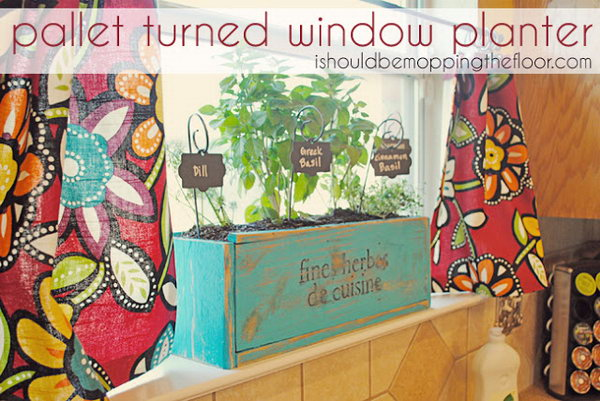 Kitchen Herb Planter Box