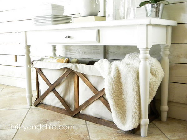 Pottery Barn Inspired Storage Crates