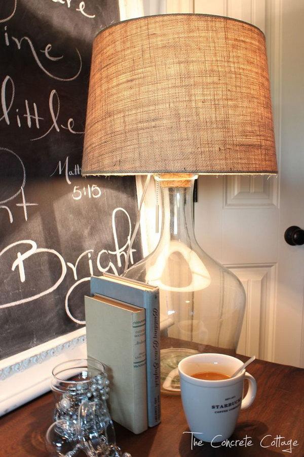 Glass Bottle Lamp   DIY Pottery Barn Knock Off