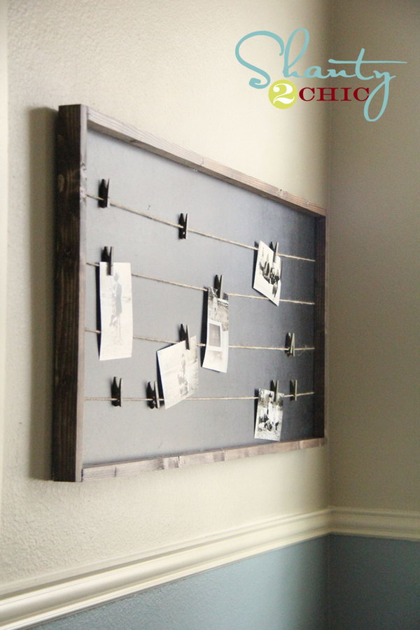 DIY String Lined Memo Board That Costs Under $15