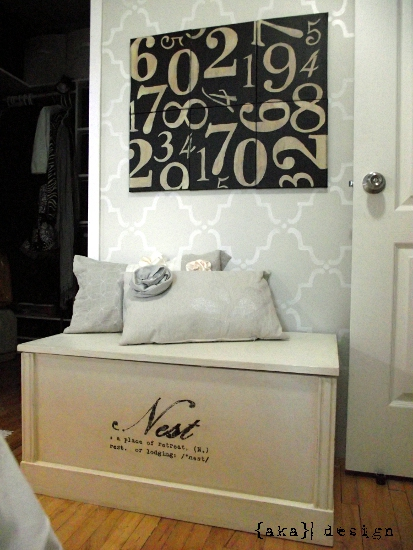 Pottery Barn Inspired Numbers Canvas