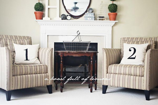 How to Make Pottery Barn Number Pillows